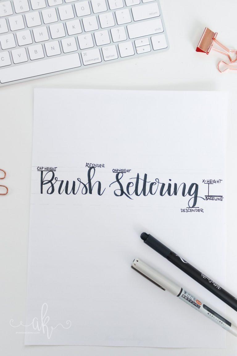 Basics of Brush Lettering | Simple Lettering Terminology