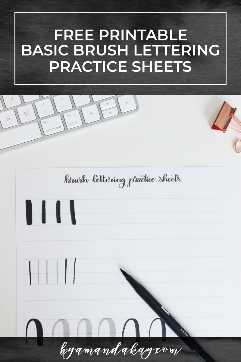 free basic brush lettering cover