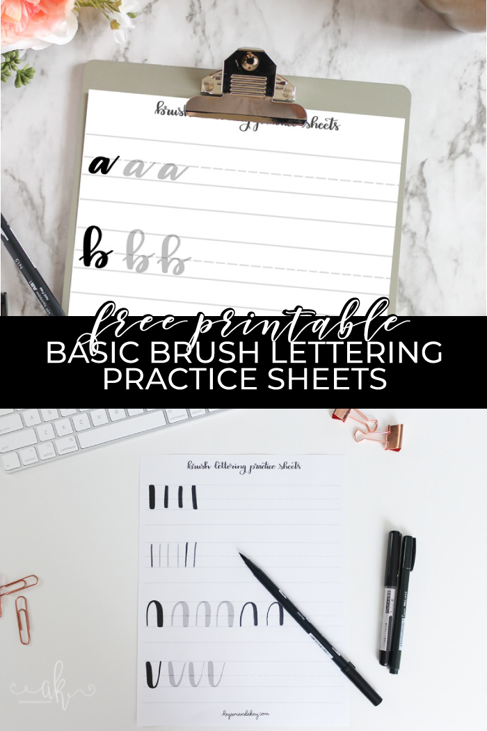 Brush lettering pin 2019