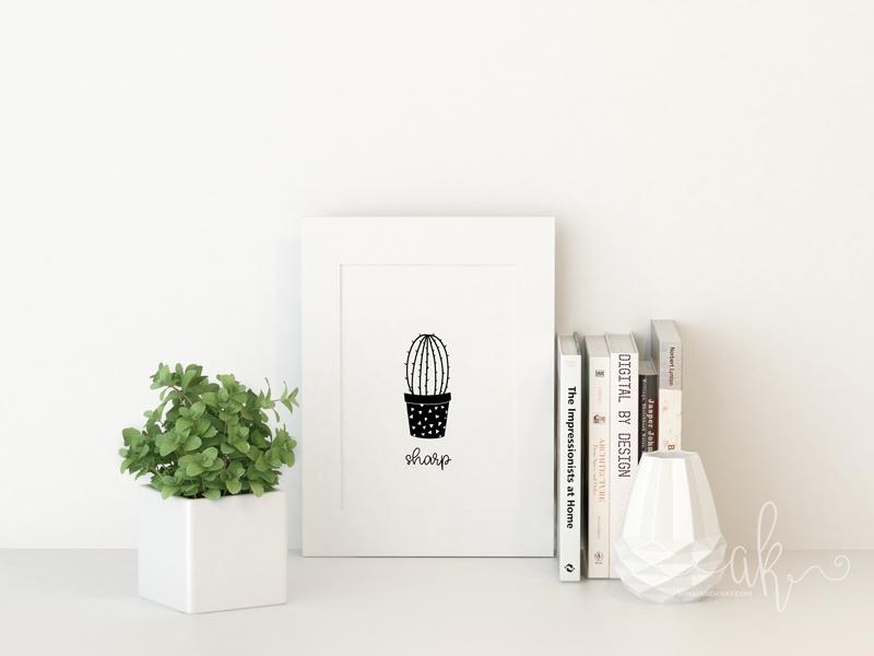 Sharp Cacti Free Printable