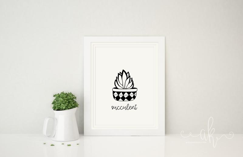Succulent Cacti Free Printable