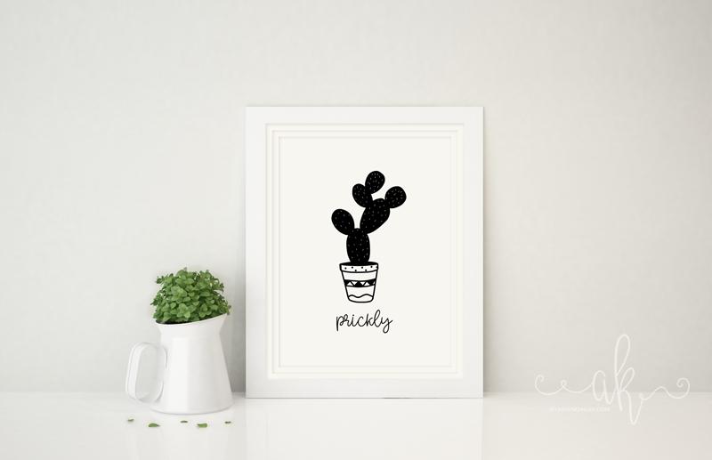 Prickly Pear Cacti Free Printable
