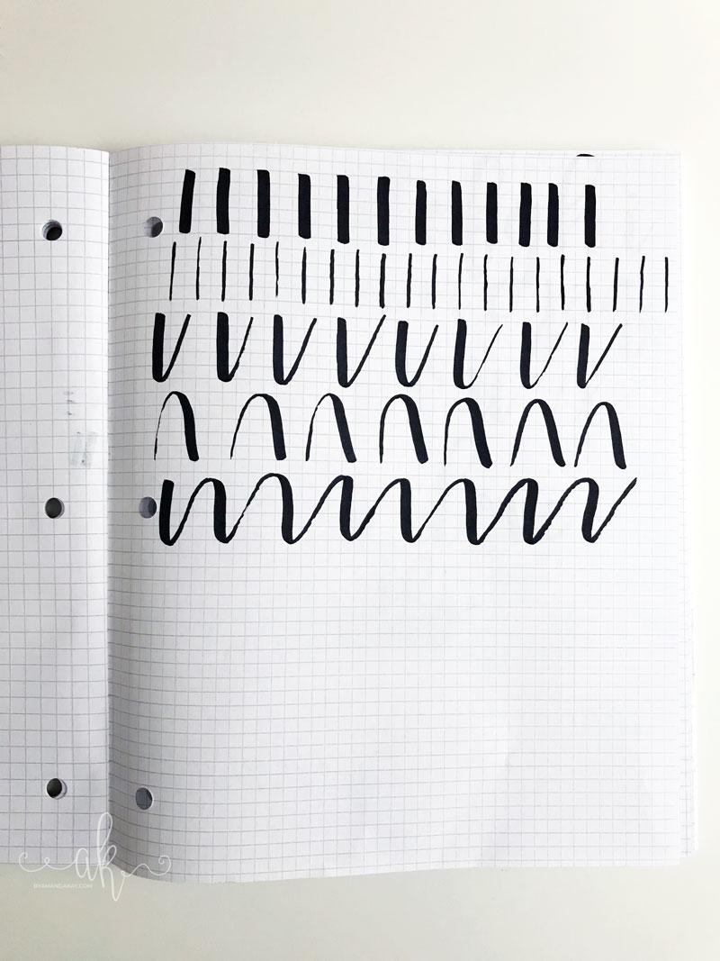 brush strokes practice