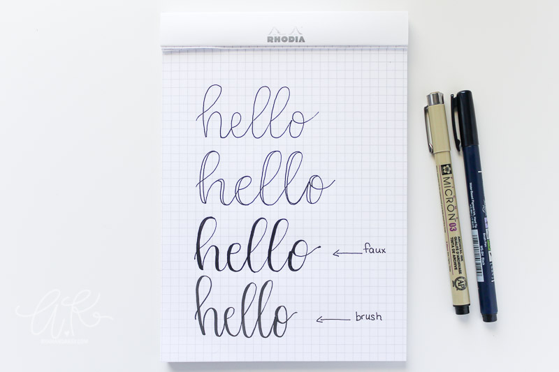 How To Fake Brush Lettering By Amanda Kay