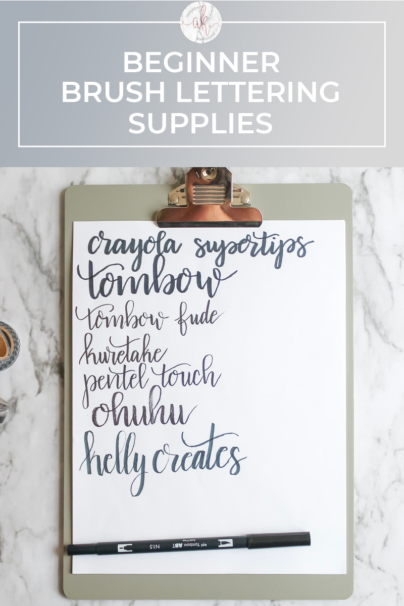 Beginner Brush Lettering Supplies