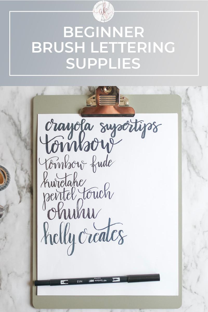 Beginner Brush Lettering Supplies