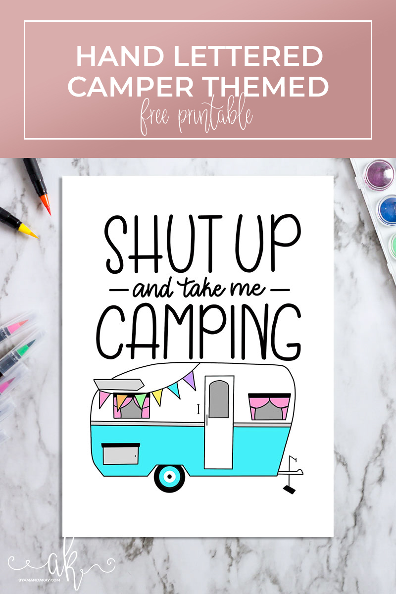Hand Lettered Camper Printable