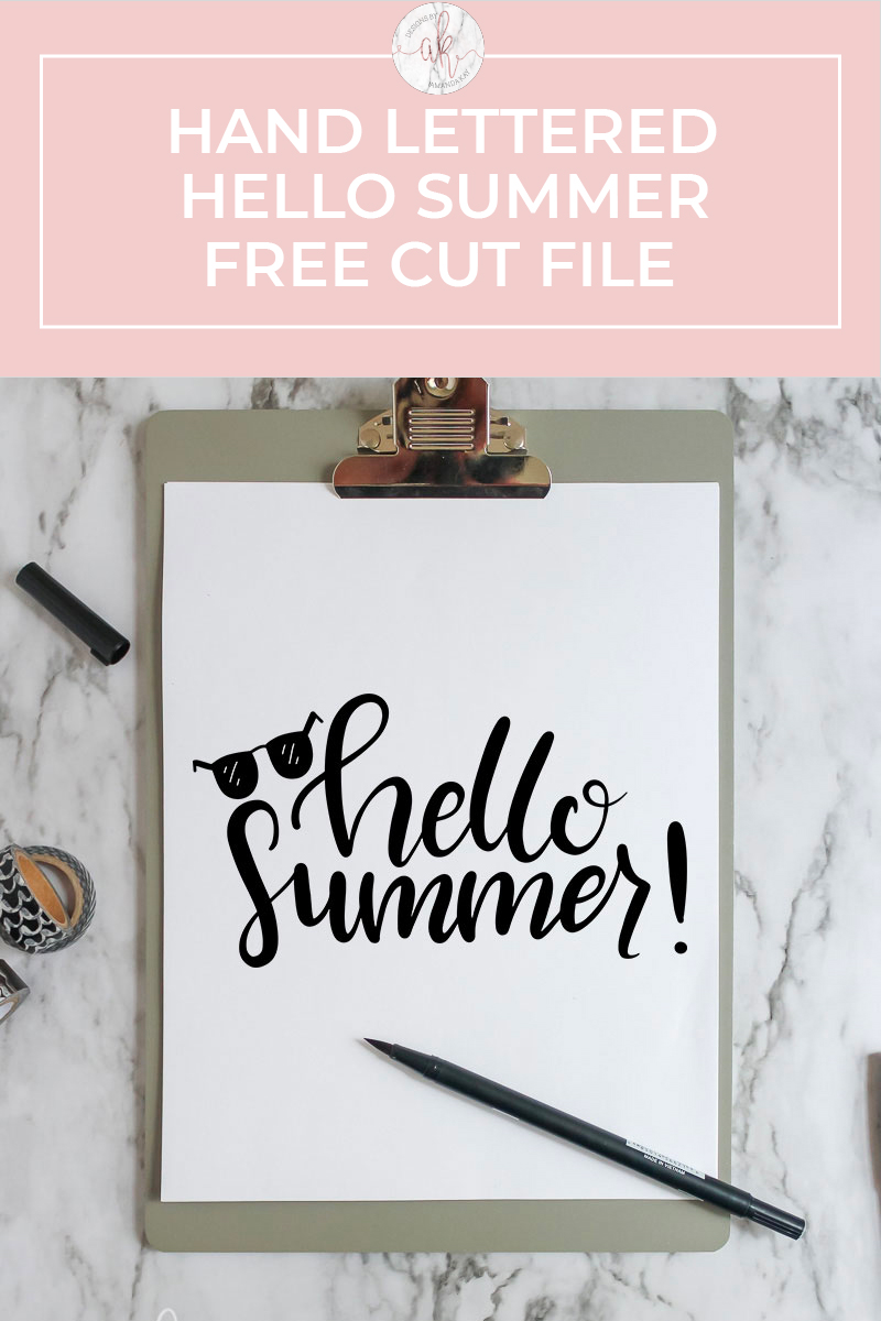 Hello Summer Cut File Free Download
