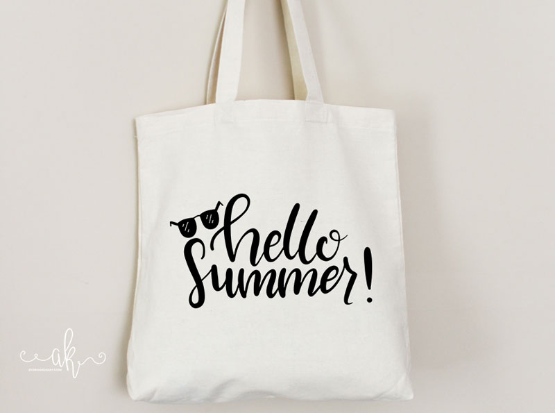 Hello Summer tote bag PNG