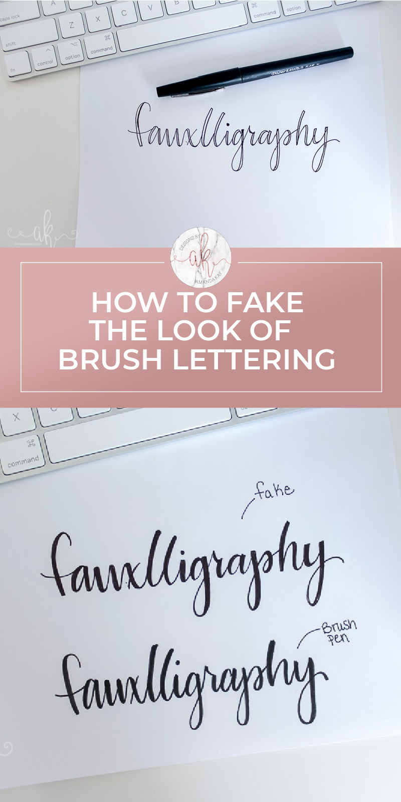 How to Fake Brush Lettering