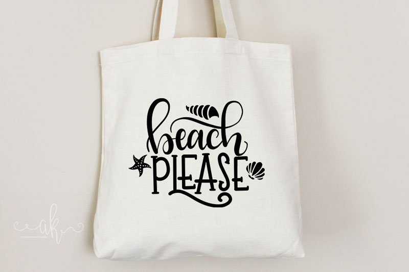 Beach Please Hand Lettered Cut File