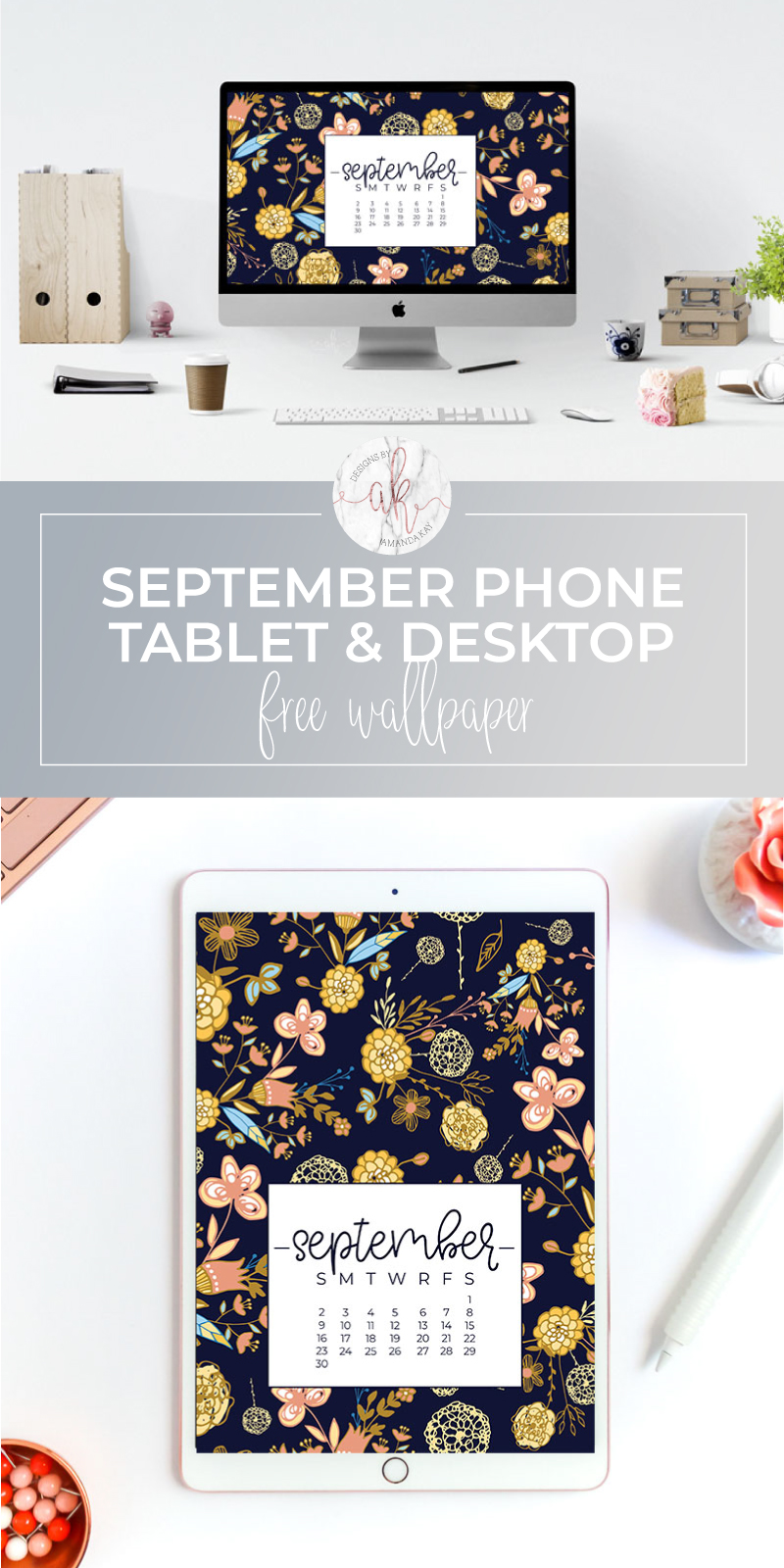 Jazz up your computer, phone or tablet for Fall with these free September 2018 wallpapers! 