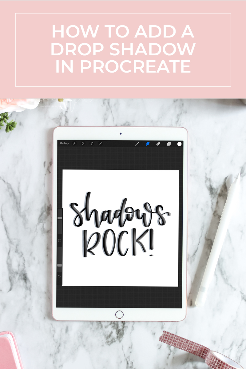 How to Add a Drop Shadow in Procreate