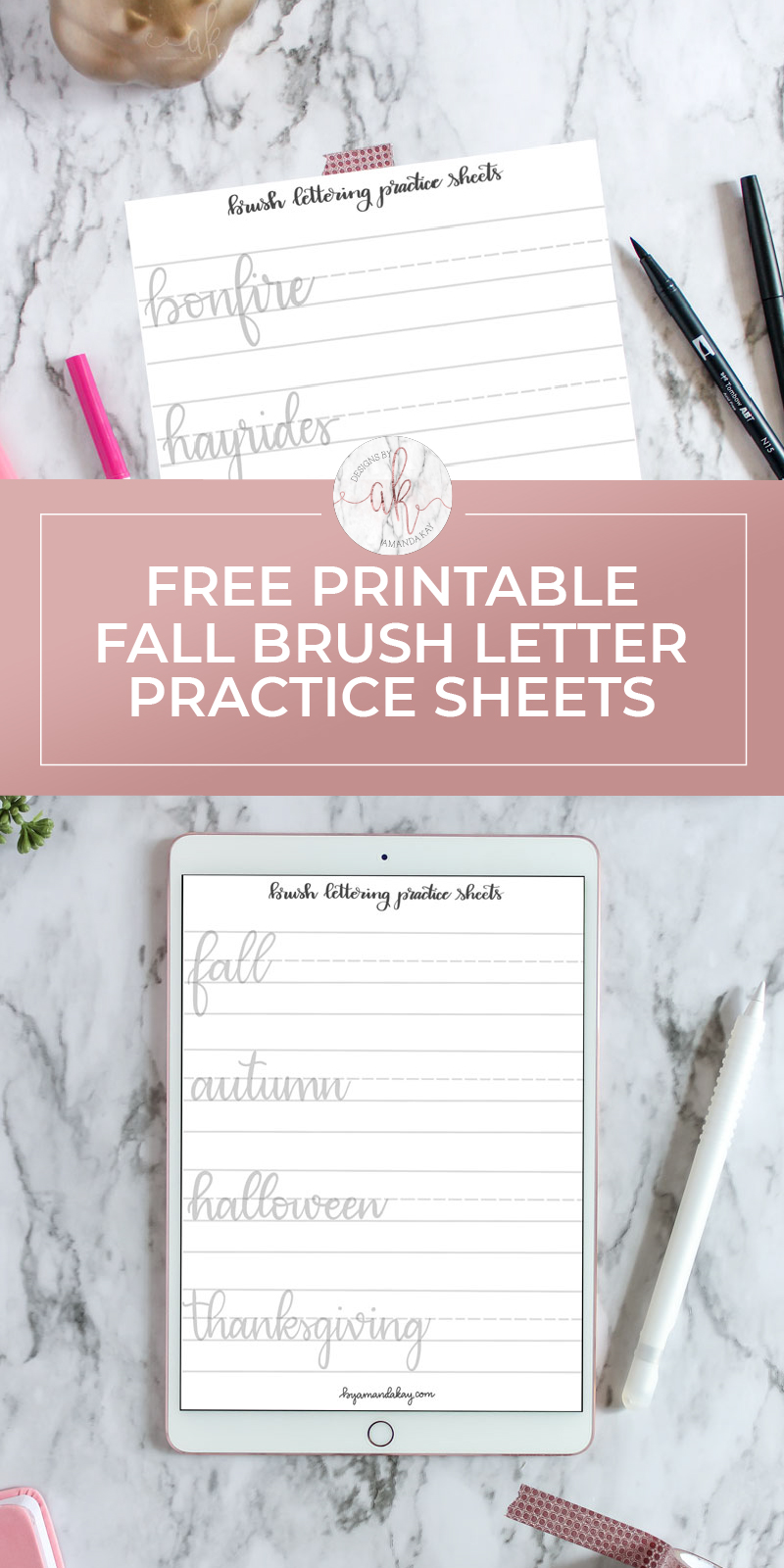 Free Printable Fall Lettering Practice Sheets