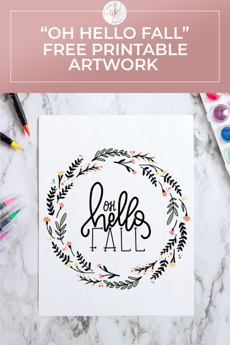 Hello Fall Free Printable Art