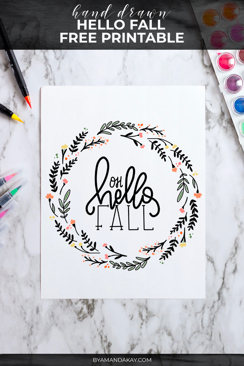 Oh Hello Fall printable