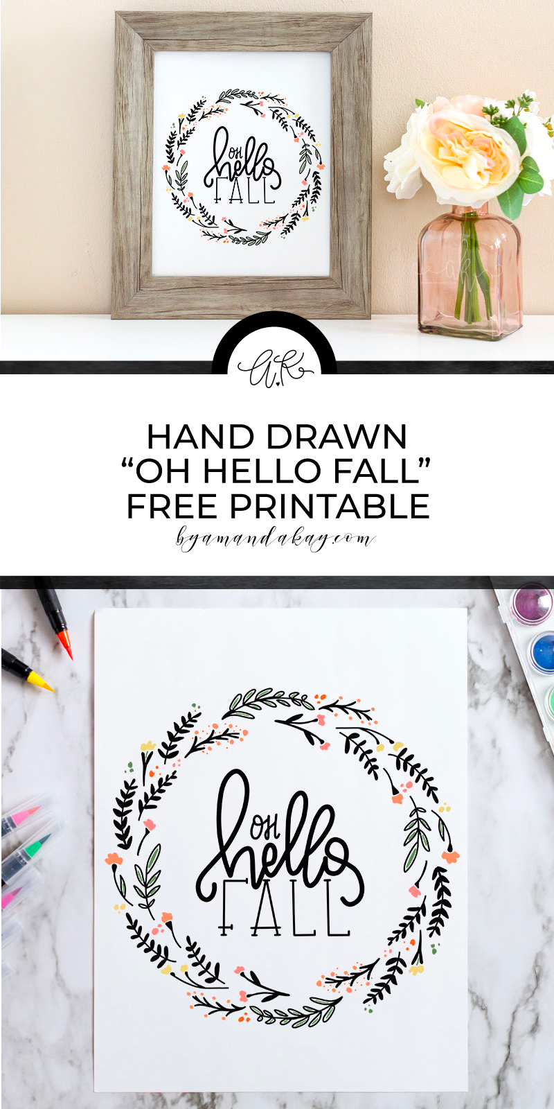 Hand drawn fall inspired printable