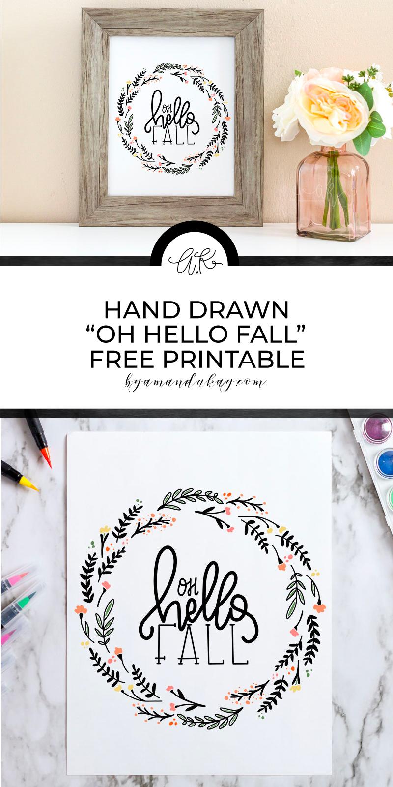 Hand drawn fall inspired printable