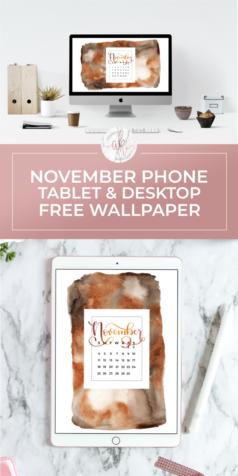 Give your devices a fresh look with a new 2018 November Free Wallpaper. Download it for your phone, tablet, computer or all three!