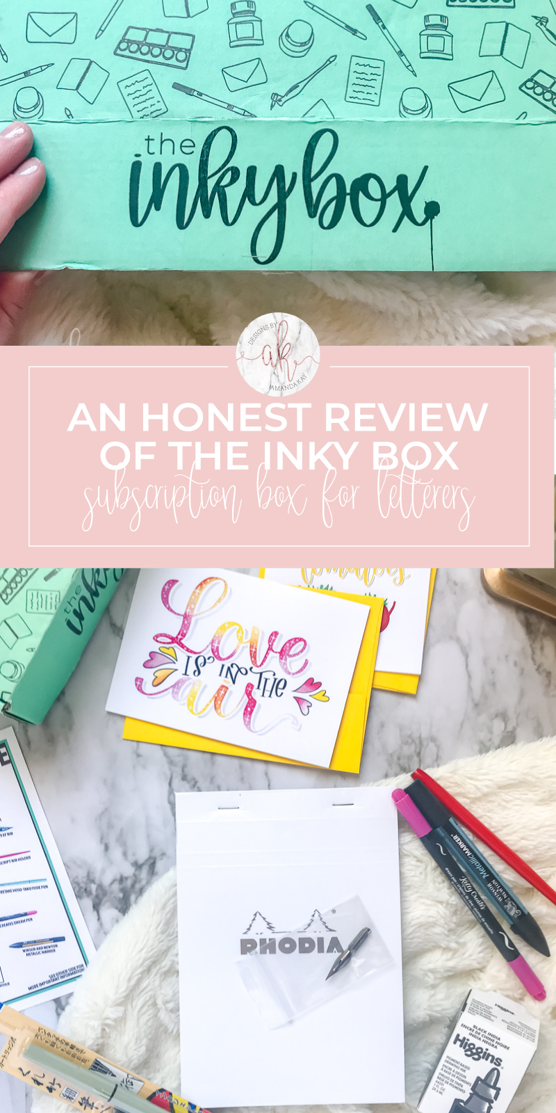 An honest The Inky Box Review--a monthly subscription box for the lettering obsessed!