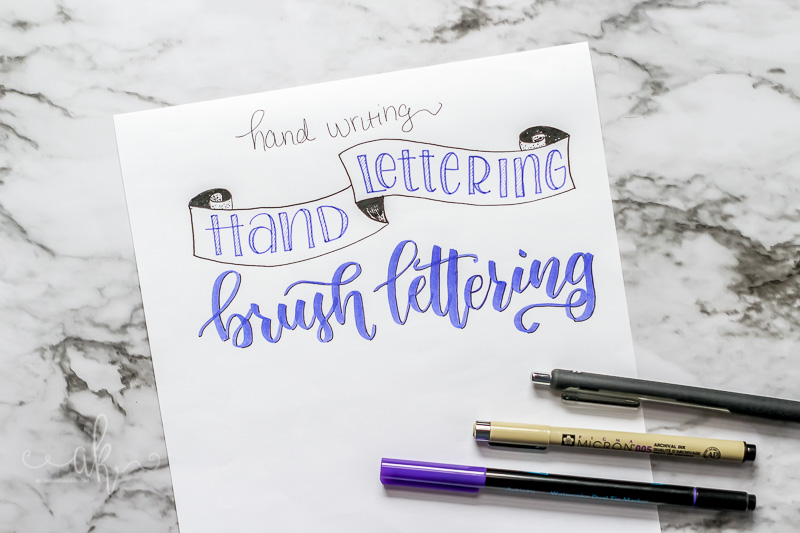 5 Things I Wish I knew before learning brush lettering