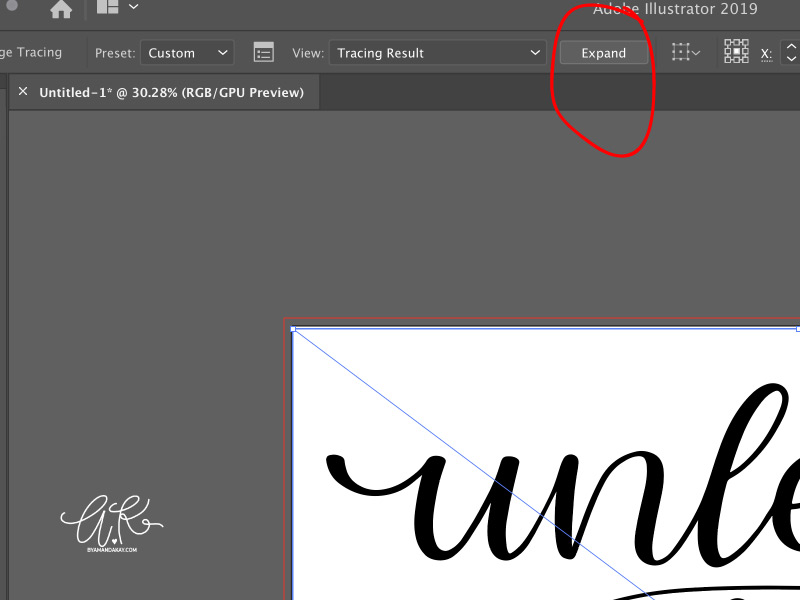 How to turn procreate lettering into svg cut files step 4
