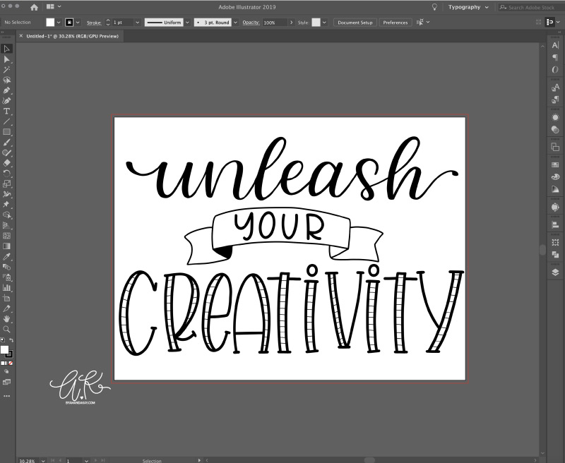How to turn procreate lettering into svg cut files step 1