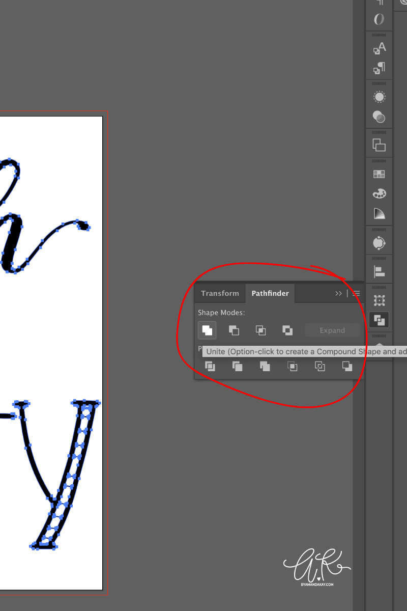How to turn procreate lettering into svg cut files