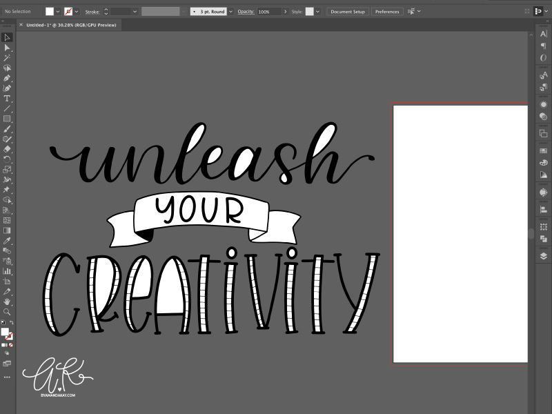How to turn procreate lettering into svg cut files step 5