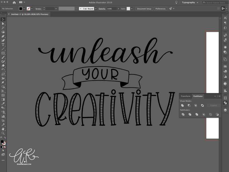 how to turn your digital letterings into SVG files