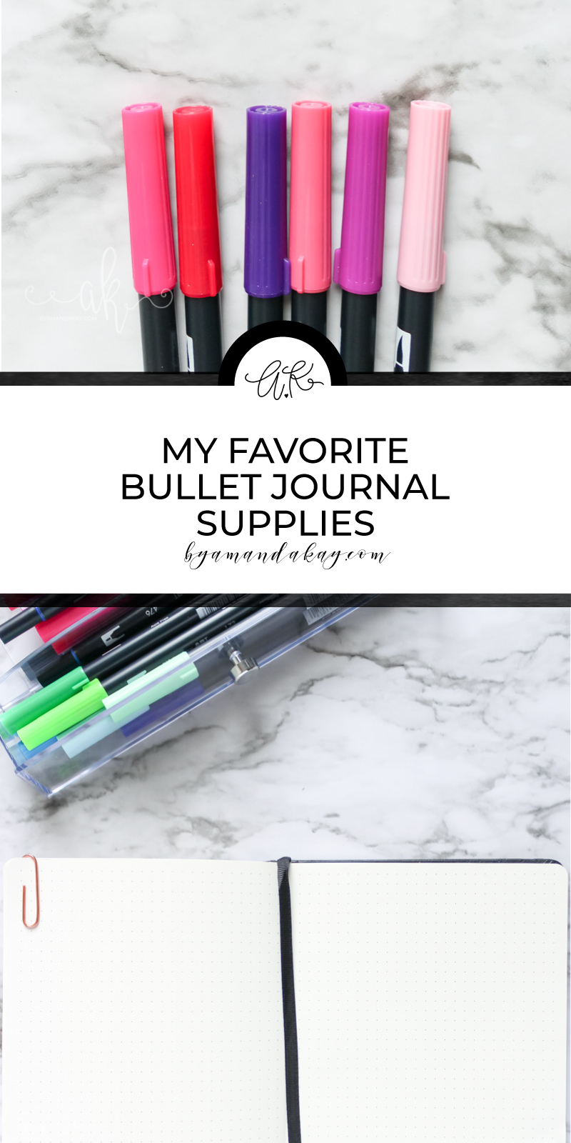 my favorite bullet journal supplies perfect for beginners