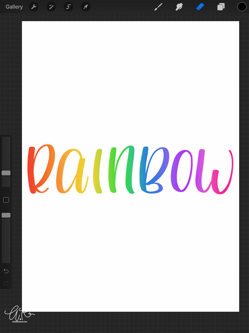 How to Use Subtractive Method for Lettering in Procreate