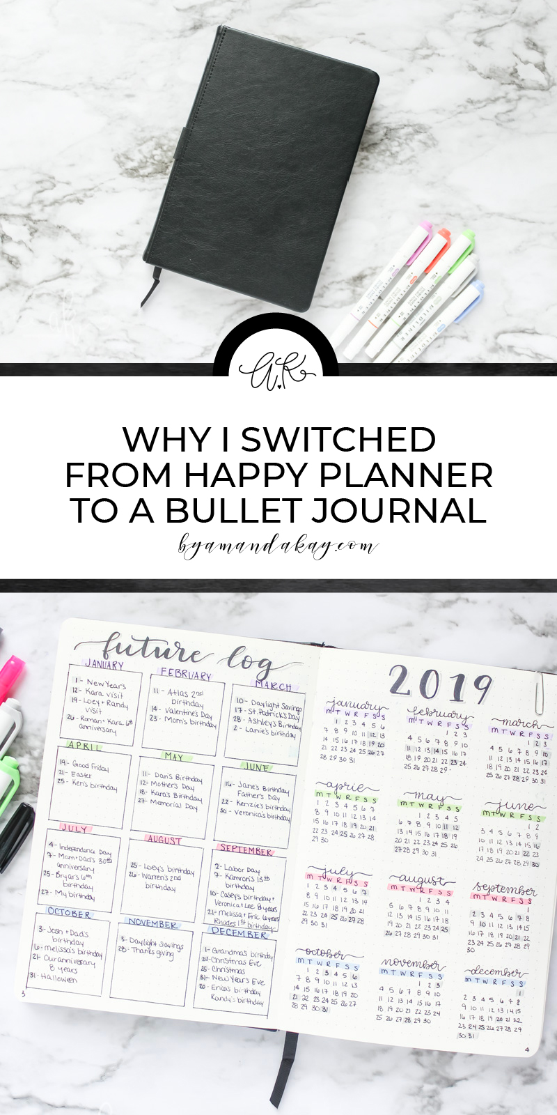 Why I changed to a bullet journal