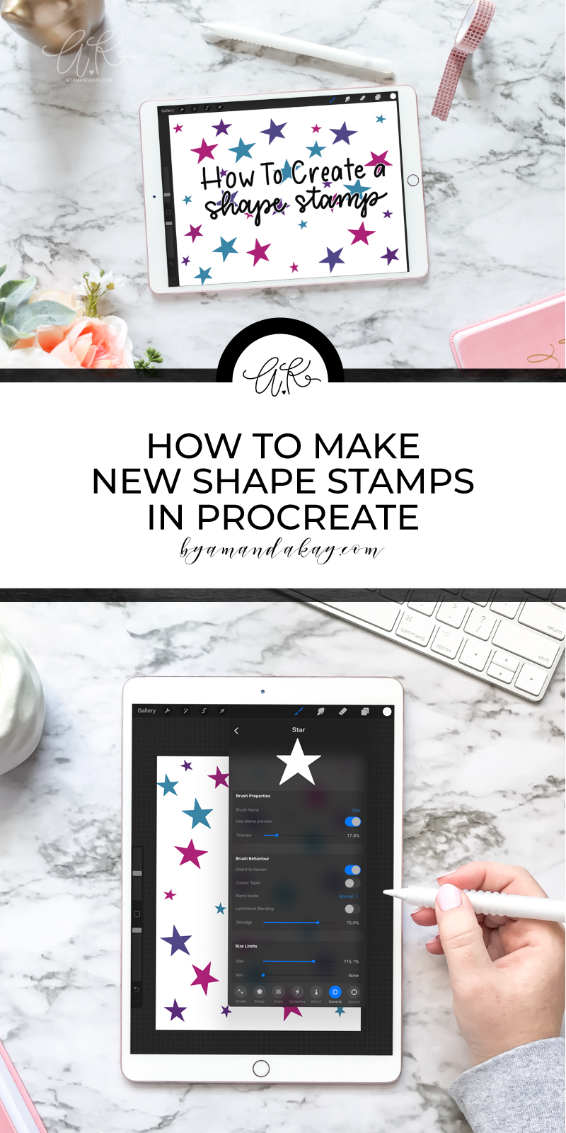 how to create a new stamp brush in procreate