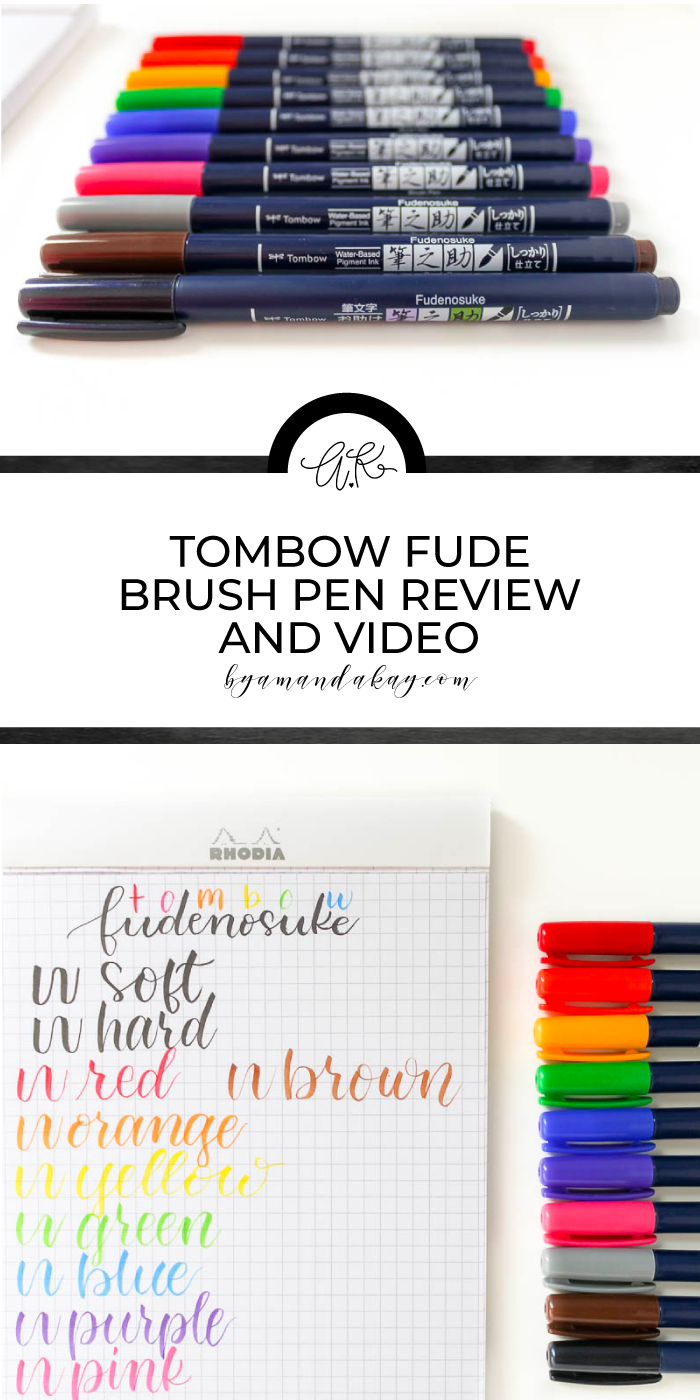 tombow brush pen review pin