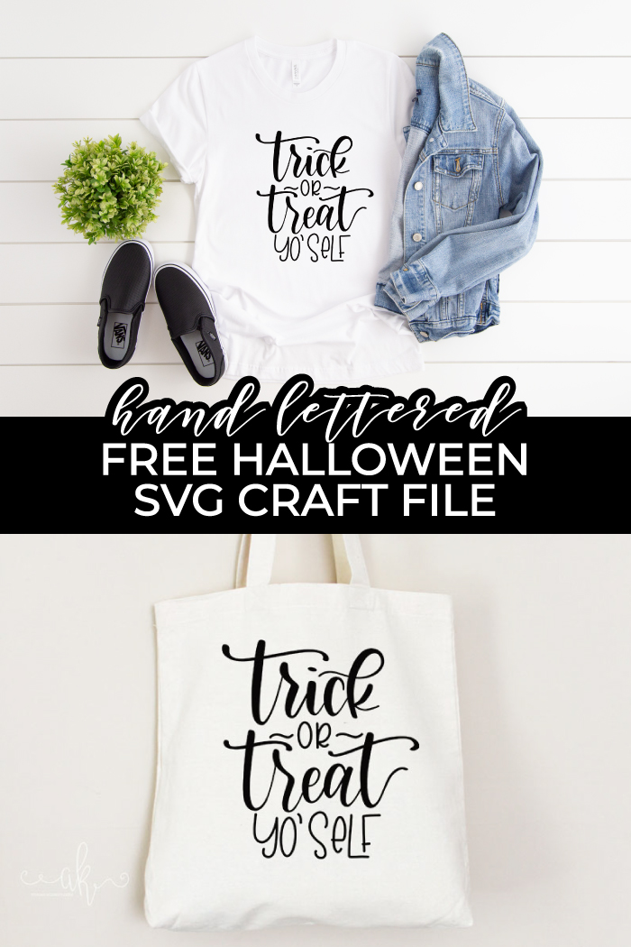 trick or treat yo' self free halloween craft file pin image