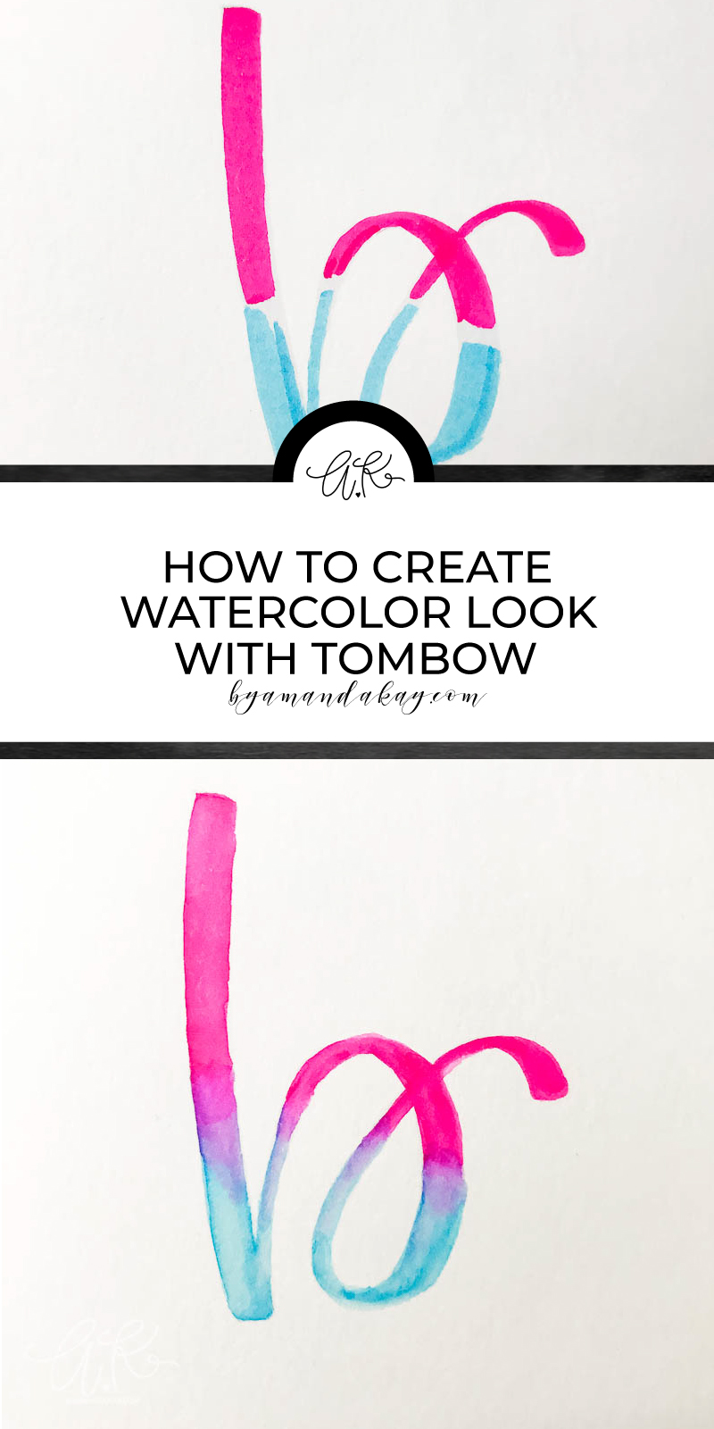 pinterest collage for watercolor blending