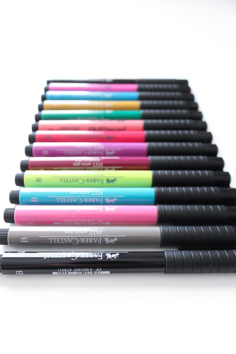 Faber Castell Pitt artist brush pens--hand lettering gift idea