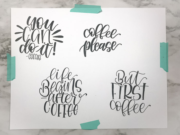 coffee quotes thumbnail sketches