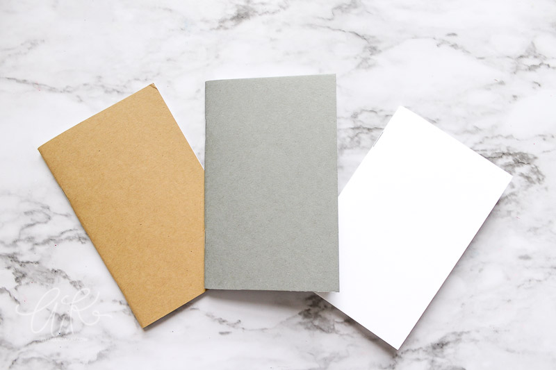 plain mini notebooks