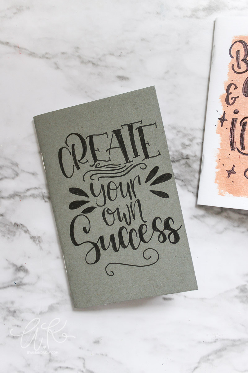 create your own success notebook
