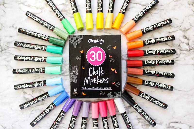 chalkola chalk markers in rainbow order