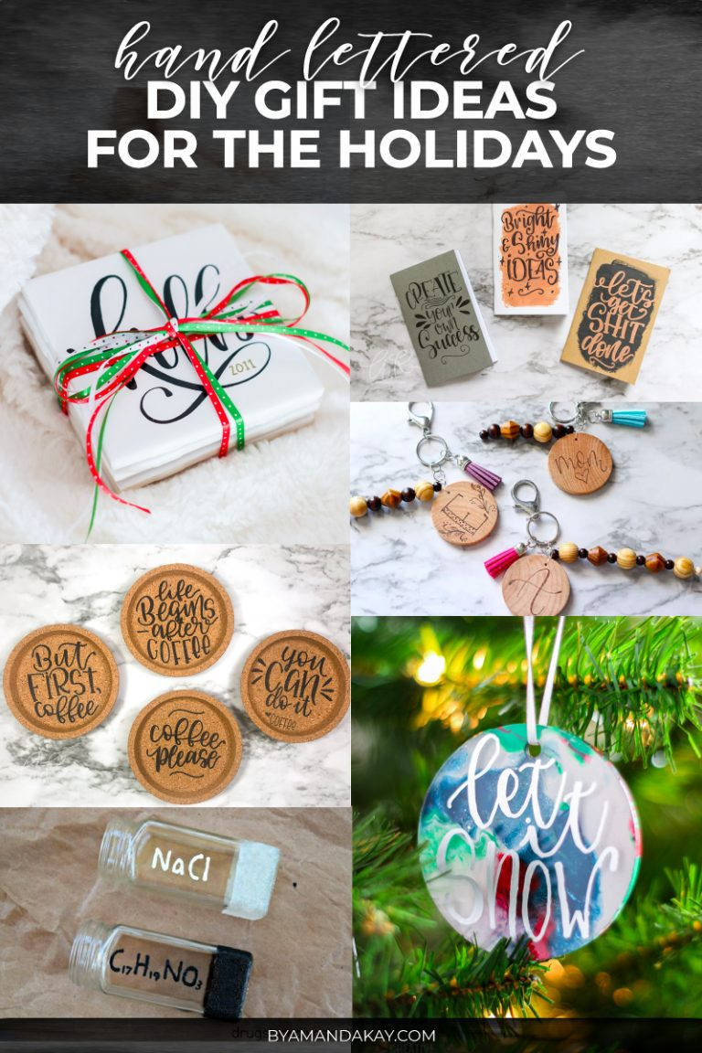 Hand Lettered DIY Gift Ideas