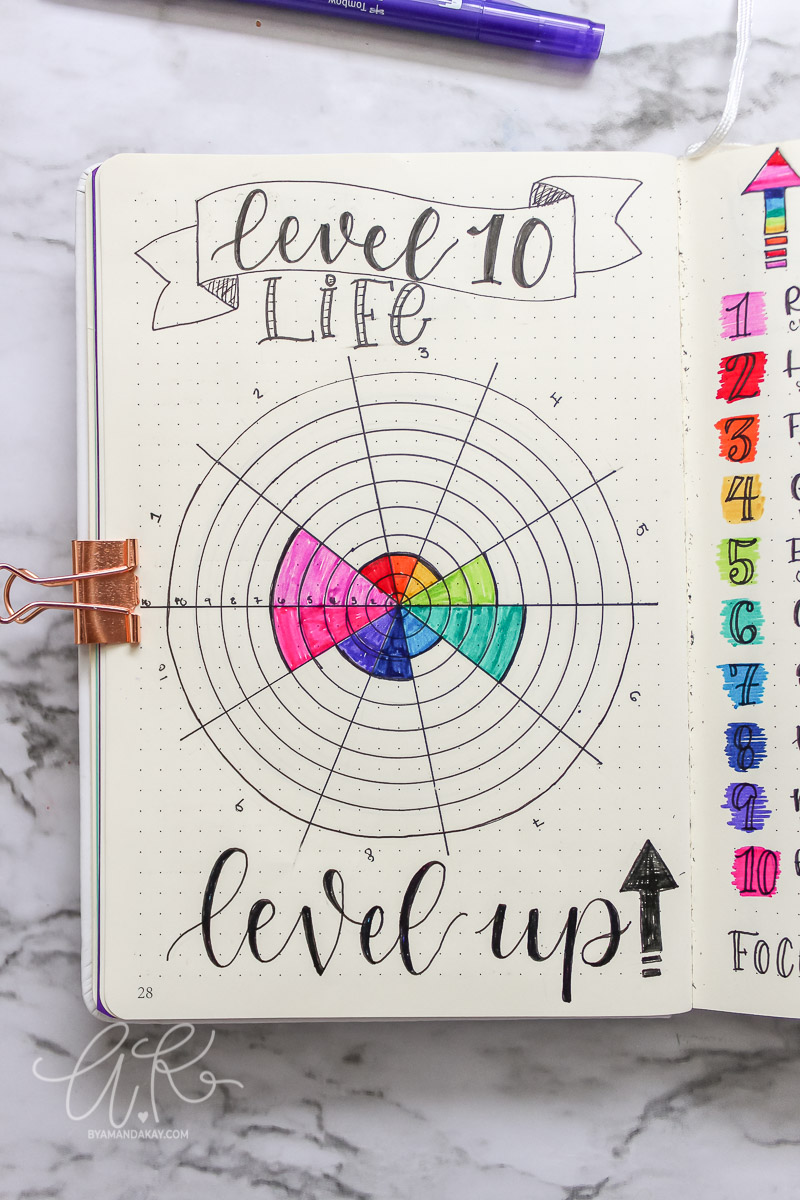 Level 10 life for bullet journal