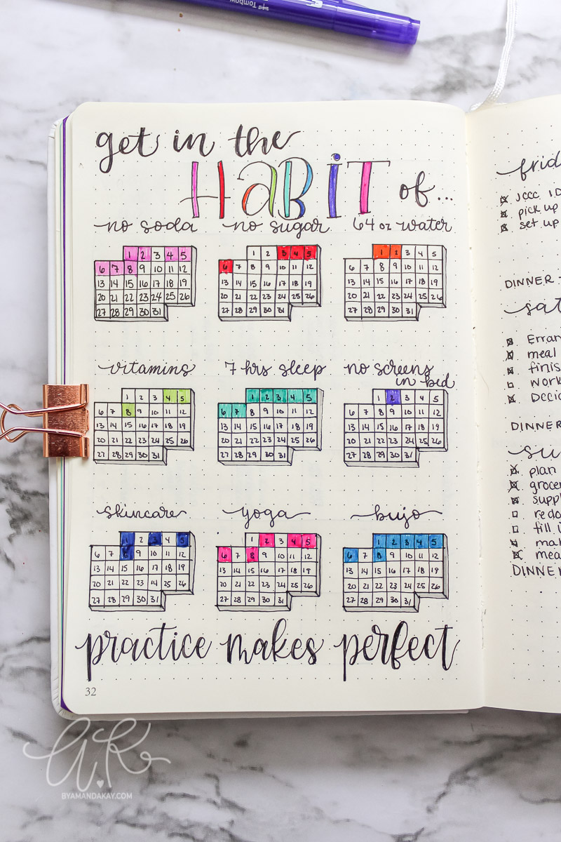 January habit tracker