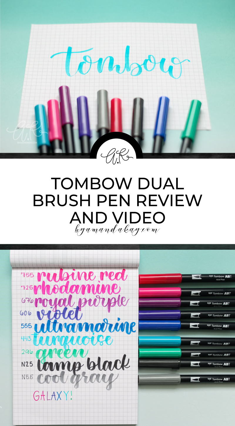 tombow brush pens long pin collage