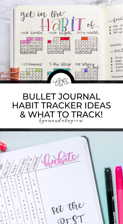 Long pin for bullet journal habit tracker ideas
