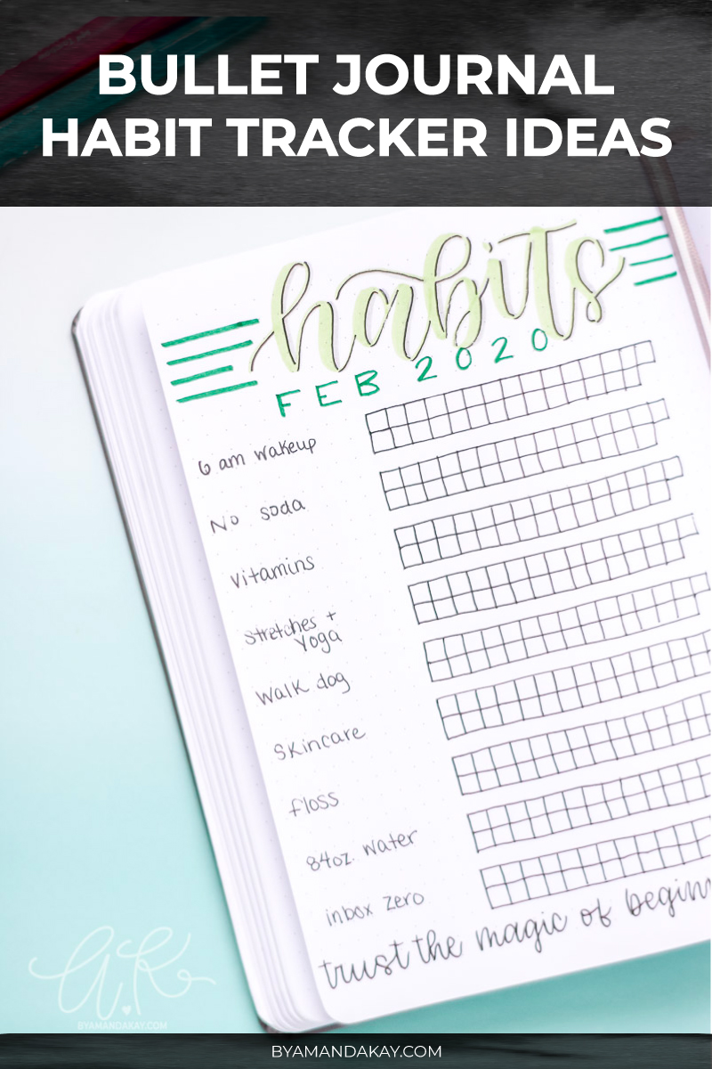 Habit Tracker ideas for bullet journal cover photo