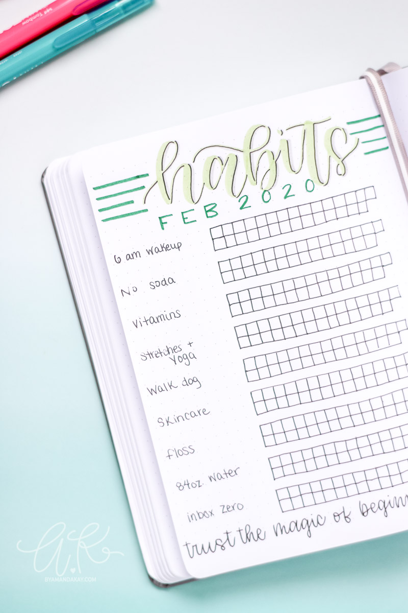 Minimal Habit Tracker for February