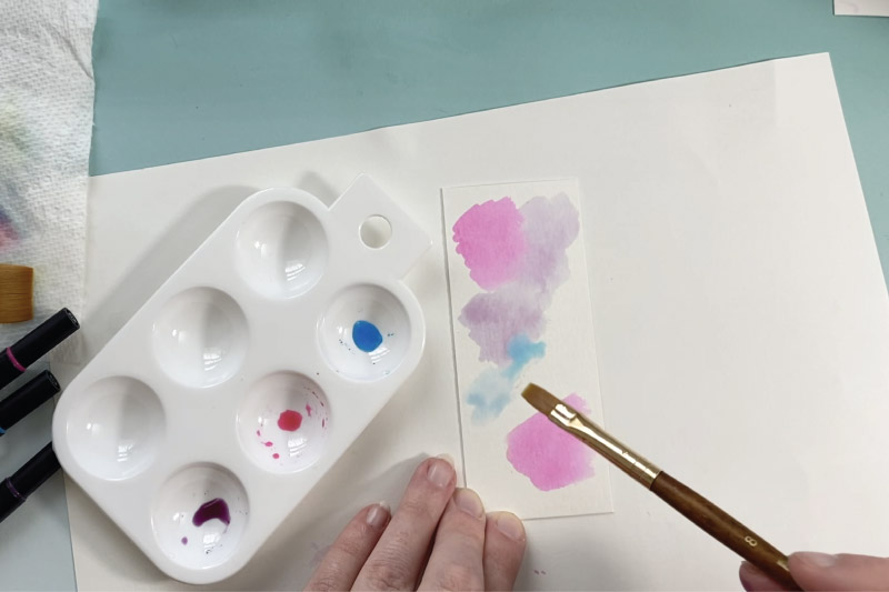 add water to create watercolor paint